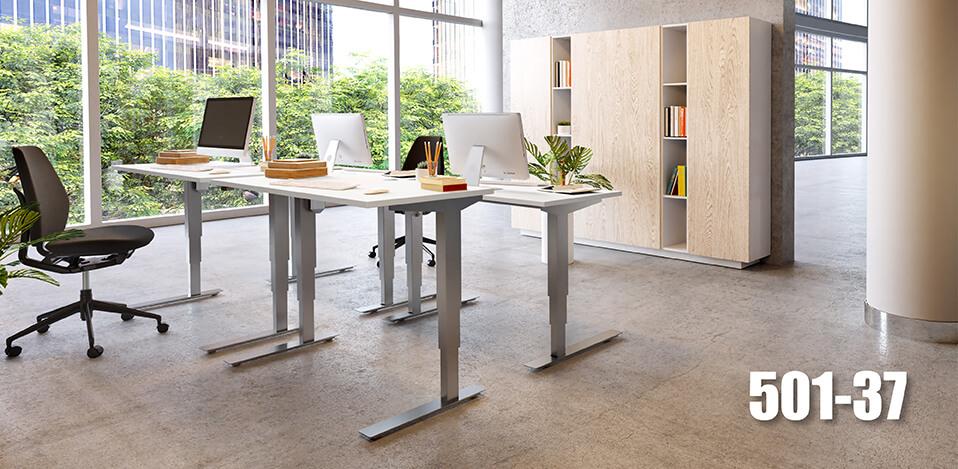 Ergonomischer bürotisch  STEH/sitz-Tische / ergonomischer Arbeitsplatz | ConSet